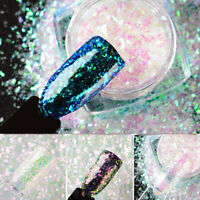 1g Chameleon Snowflake Glitter Sequins Nail Art Manicure DIY Decoration MTSSII