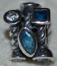 Chamilia Sterling Silver Mixed BLUE SWAROVSKI CRYSTAL MARQUIS Bead JC-28B NWOT