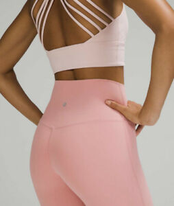 """NWT Lululemon Align Pant Size 6 Pink Puff Nulu 25"""" Lined RARE!"""