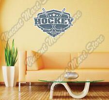"Hockey Stick Puck Skate NHL Grunge Wall Sticker Room Interior Decor 25""X20"""