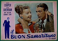 T64 FOTOBUSTA IL BUON SAMARITANO GARY COOPER ANN SHERIDAN COLLINS LOWE