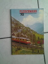 Fleischmann-catalogo/opuscolo -- USATO-ANNO 1972