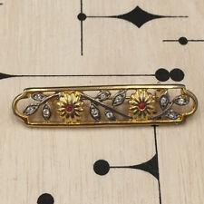 Broche Barrette Ancienne Métal et strass - Vintage Brooch