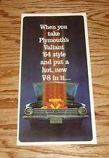 Original 1964 Plymouth Valiant Foldout Sales Brochure 64