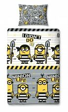 Children Boys Kids Despicable Me 3 Single Bed Reversible Duvet Pillow Cover