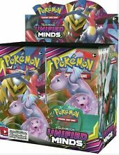 Pokemon Sun & Moon Unified Minds Booster Box Factory 36 packs Sealed