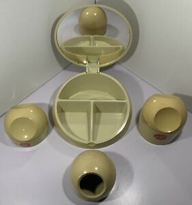 RARE 1970s VANITY DRESSING TABLE SET FROM GEDY ITALY DESIGNED BY MAKIO HASUIKE