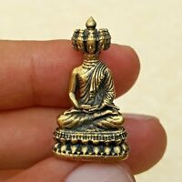 "/""OLD PHRA RAHU/"" God Of Wealth Rich Thai Magic Brass Amulet Talisman Luck Brown"