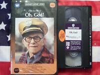 Oh, God (VHS, 1977) John Denver, George Burns, Teri Garr, Clamshell Case Rare