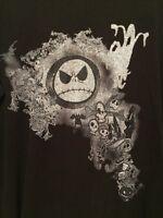 Disney Store 2XL Jack Skellington Nightmare Before Christmas Black Thermal Shirt