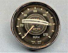 1955 - 64 TRIUMPH TR3/TR4 BRITISH JAEGER CURVED GLASS SPEEDOMETER 120 MPH