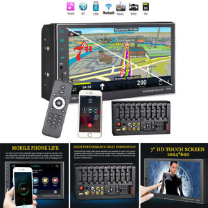 """2DIN 7"""" Car Stereo Radio MP5 Player FM AUX Touch Screen Rear View GPS Navigation"""