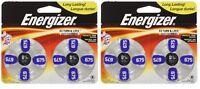 Lot of 2 Energizer Batteries AZ675 EZ Turn and Lock Hearing Aid AZ675, 8 Count