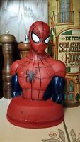 DC Comic Spiderman Plastic Bust Coin Bank 7""