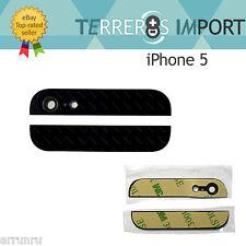 Cristal Superior e Inferior Negro Parte Trasera iPhone 5 Cristal Camara Tapa