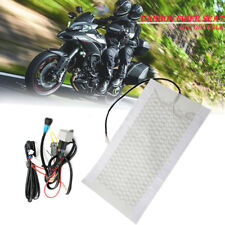 For Motorcycle ATV Bike Warmer Winter Carbon Fiber Seat Heater Kit Heated Pad