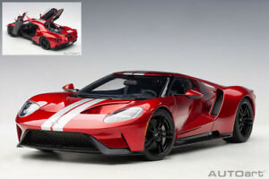 Model Car Scale 1:18 AutoArt Ford Gt diecast vehicles road collection