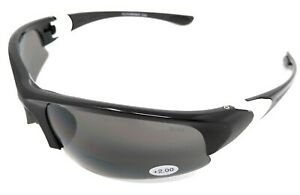 Bifocal Sports Glasses 2.0 2.5 3.0 Tinted Sunglasses for Golf Cycling Reading