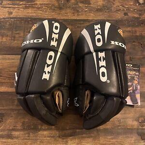KOHO Revolution 2270 black leather hockey gloves Mario Lemieux NEW with tags!