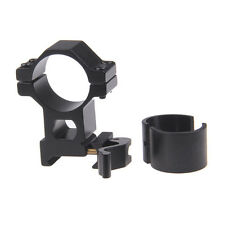 "1"" 25.4/30mm High Ring 20mm Weaver Picatinny Rail QD Quick Release Scope MountE&"