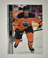 2020-21 UD Series 1 Clear Cut #71 Oscar Klefbom - Edmonton Oilers