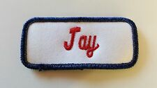 Embroidered Name Tag / Patch JAY