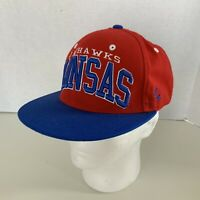 Kansas Jayhawks Zephyr Red Blue Adjustable Wool Blend Hat