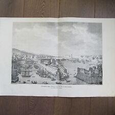 GRAVURE 1850 PAR VERNET NAPOLÉON 1796 ENTRÉE DES FRANÇAIS DANS LIVOURNE