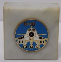 Vtg 1980s UNITED STATES AIR FORCE USAF B-1B STEALTH BOMBER MARBLE PAPER WEIGHT