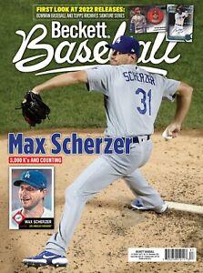 New DECEMBER 2021 Beckett BASEBALL CARD Price Guide Magazine w/ MAX SCHERZER