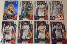 MATCH ATTAX UEFA CHAMPIONS 17 / 18 Winners REAL MADRID Foil Card Set of 18