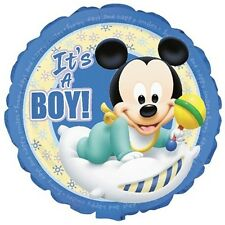 Baby Mickey Round Edible Party Cake Image Topper Frosting Icing Sheet