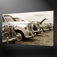 OLD CARS VINTAGE RETRO CANVAS WALL ART PICTURES PRINTS 30 x 20 Inch FREE UK P&P