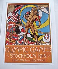 Official Poster Reprint for Olympic Games 1912 Stockholm Sweden 16x12