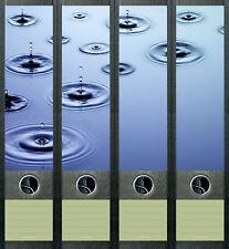 Ordnerrücken Wassertropfen Wasser Ordner Ordneraufkleber Aufkleber Deko 436