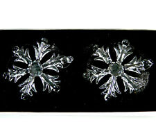 2 Snowflakes Made of Glass to Hang Christmas Tree Ornament Christmas Decoration