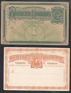 HONDURAS 1880'S TWO UNUSED POSTAL CARDS