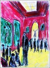 LOUVRE modern art oil painting