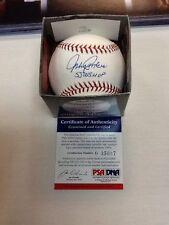 Johnny Podres 55 WS MVP Signed Auto OML Baseball PSA/DNA Certified