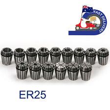 15Pcs ER25 Spring Collet Set from 1mm to 16mm For CNC Milling Lathe Chuck in AU