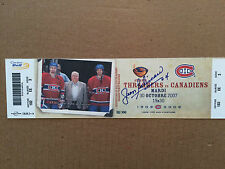 Jean Beliveau's own personal Bell Centre seat autographed ticket (Rare !)