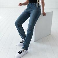 Levi's 505 Straight Leg Damen blau Jeans DE 38 W30 L32