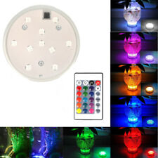 LED Remote Control RGB Tea Light Submersible Waterproof Vase Light Home Decor