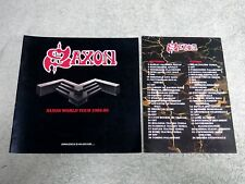 SAXON World tour 1985-86 TOUR PROGRAMME + TOUR DATES INSERT!