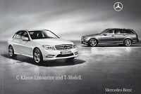 Mercedes C Klasse Limousine T-Modell Prospekt 2009 12/09 63 AMG 300 350 180