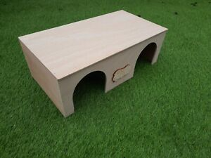 Guinea pig in and out double entrance shelter/hide/house ( FULLY ASSEMBLED)