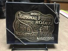 "2013 Hesston National Finals Rodeo ""adult"" Brass Belt Buckle"