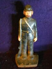 CIVIL WAR Cast Iron Statue/doorstop UNION SOLDIER W/RIFLE