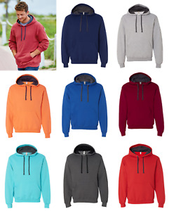 Fruit of the Loom SF76R Sofspun Hooded Pullover Sweatshirt Sweater Size S-3XL
