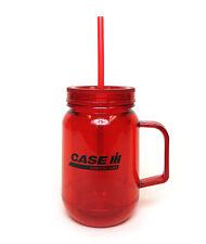 Red Case IH Acrylic Mason Jar W/ Lid & Straw